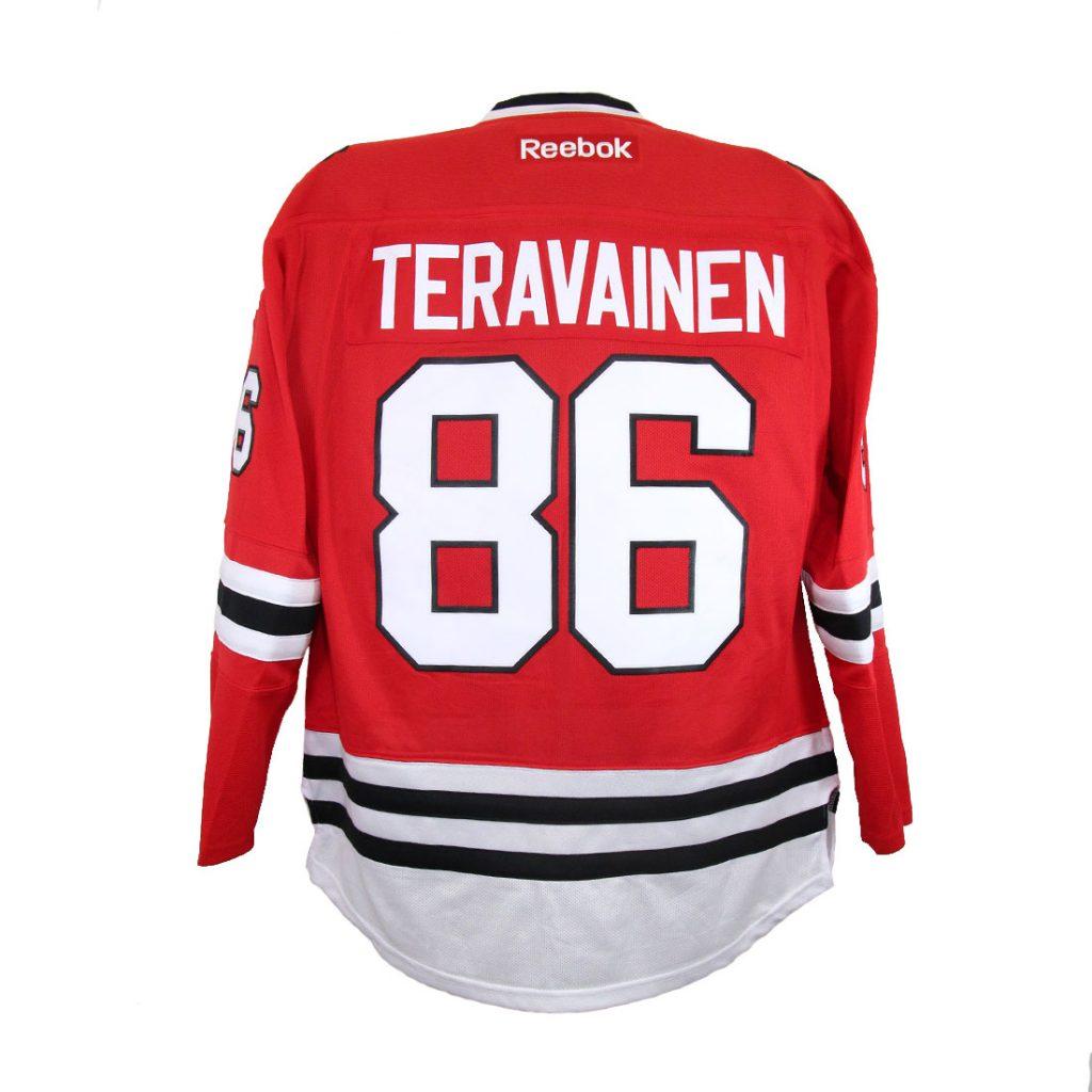 Chicago Blackhawks, #86 TERAVAINEN, punainen
