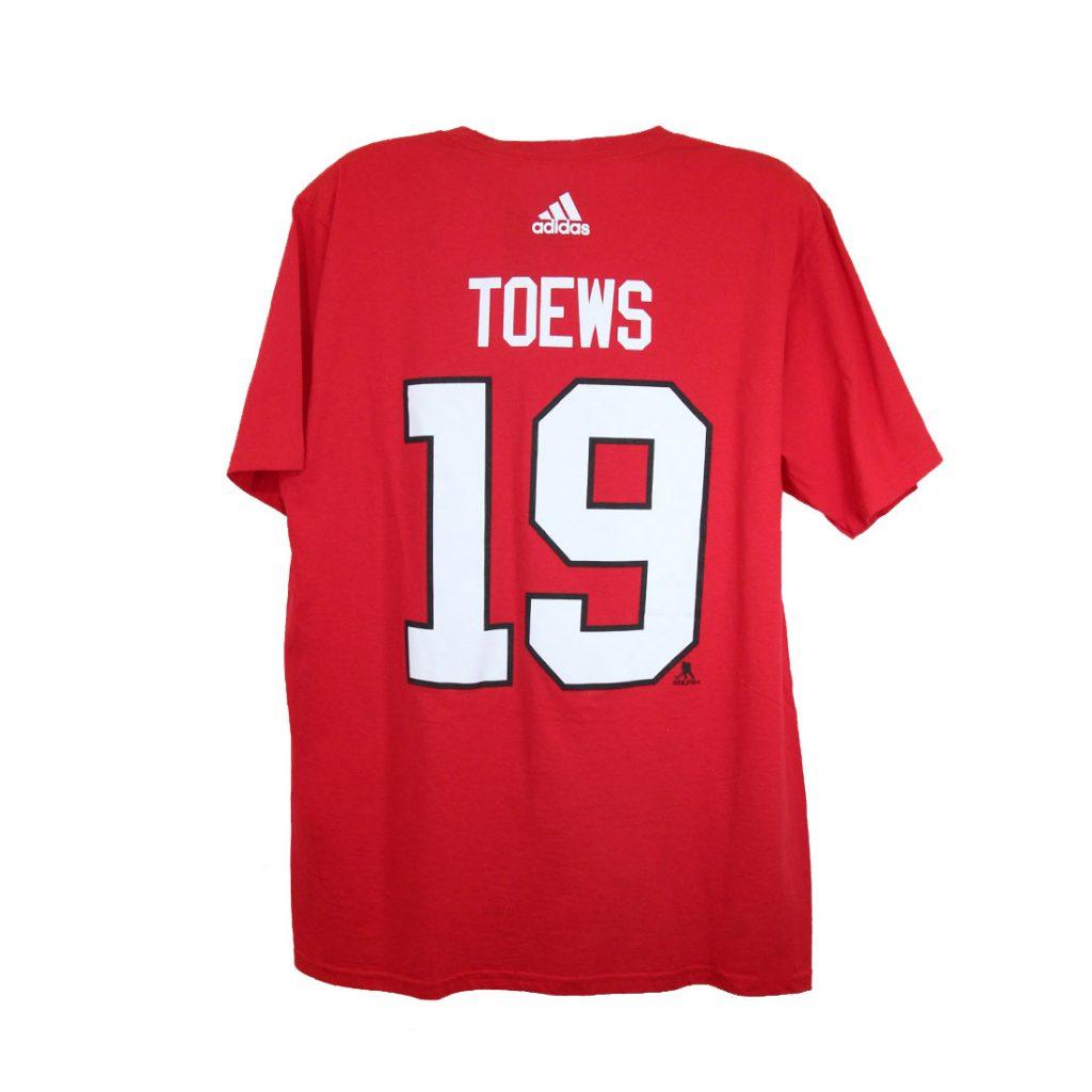 Chicago Blackhawks, TOEWS #19, Adidas Authentic Go-To Tee