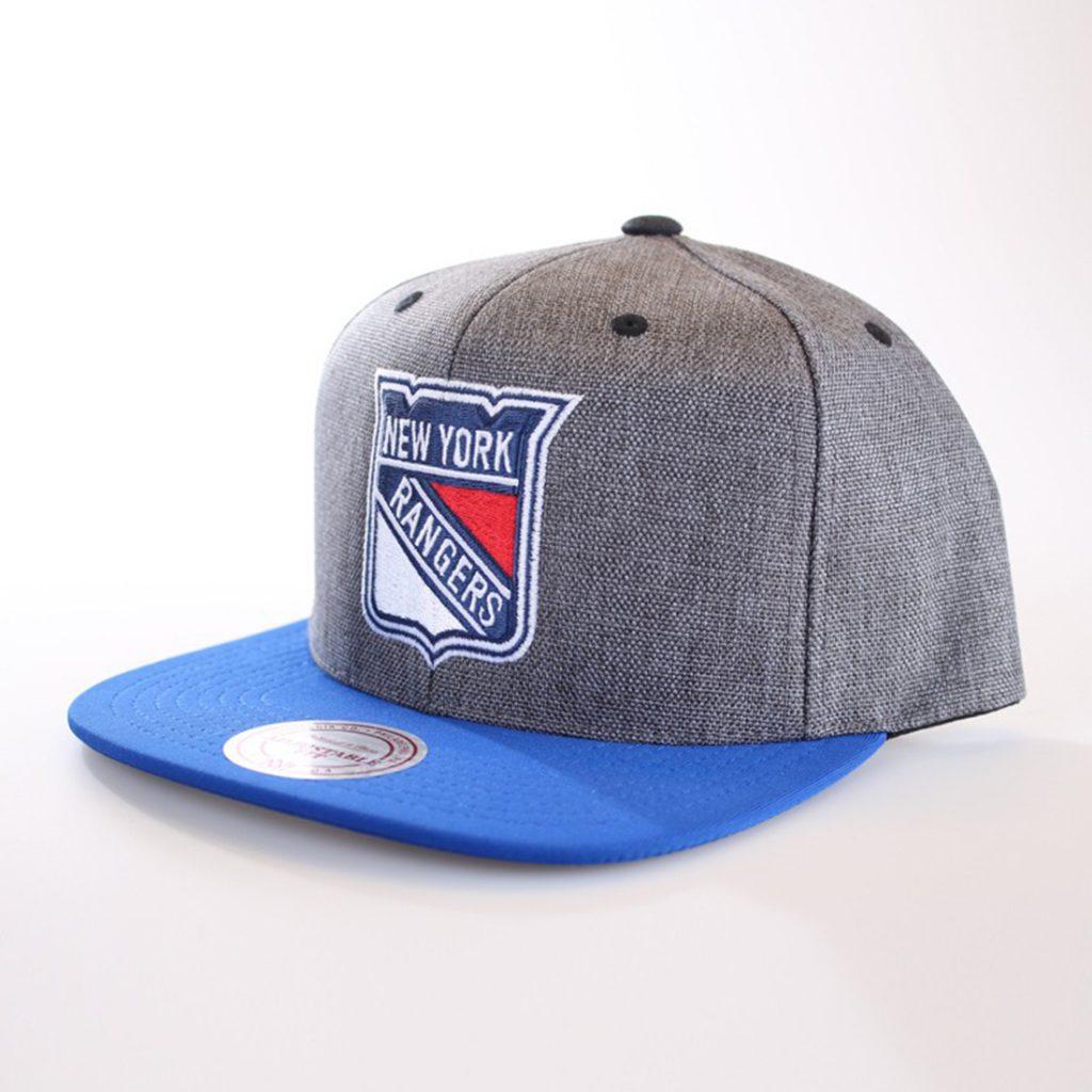 Mitchell & Ness New York Rangers Snapback, harmaa