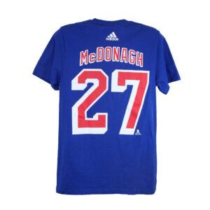 New York Rangers, McDONAGH #27, Adidas Authentic Go-To Tee