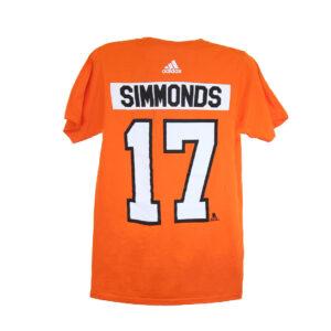 Philadelphia Flyers, SIMMONDS #17, Adidas Authentic Go-To Tee
