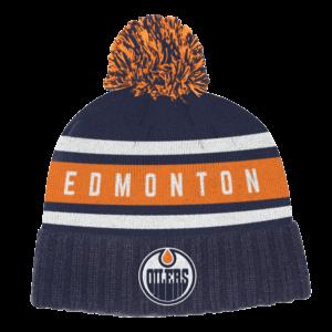 NHL-Tupsupipo Edmonton Oilers, Adidas Culture Cuffed Knit Pom