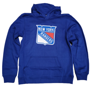 New York Rangers, Outerstuff Logo Hoodie, lapsille